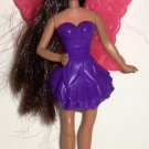 McDonald's 2011 Barbie A Fairy Secret Raquelle in Dark Purple Dress Doll Happy Meal Toy Loose