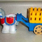 Fisher-Price Little People Horse and Hay Wagon Loose Used