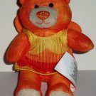 McDonald's 2009 Build-A-Bear Autumn Bear Happy Meal Toy w/ Outfit Build A Loose Used