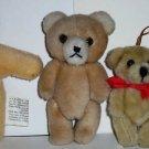 Small Plush Teddy Bear Lot of 4 Loose Used