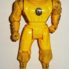 Mighty Morphin' Power Rangers Kick Action Yellow Ninja Ranger Figure Bandai 1995 Loose Used A