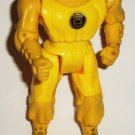 Mighty Morphin' Power Rangers Kick Action Yellow Ninja Ranger Figure Bandai 1995 Loose Used B