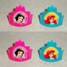 Lot of 8 Decopac Disney Princess Crown Cupcake RIngs Loose Used