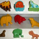 Lot of 3 Chicco Animal Shape Sorters Replacement Pieces and 6 Other Animals