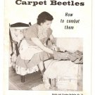 Clothes Moths and Carpet Beetles Home & Garden Bulletin #24 Booklet 1961 USDA