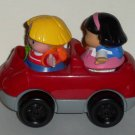 Fisher-Price #77749 Little People World Travelers Car with Figures Loose Used