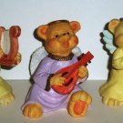 Angel Teddy Babies Lot of 3 Bear Figurines Loose Used