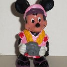 Disney Mickey Mouse Tourist PVC Figure Applause Loose Used