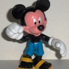 Disney Mickey Mouse Wearing Blues Shorts and Sandals Plastic Figure Loose Used