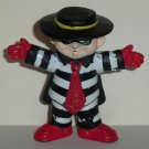 McDonald's 1995 Halloween Hamburglar PVC Figure Only Happy Meal Toy Loose Used Heavy Wear