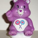 "Care Bear Share Sitting 2.5"" PVC Figure Cake Pencil Topper Loose Used"
