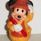 Disney Mickey Mouse Arco Playset Farmer Orange Plastic Figure Loose Used
