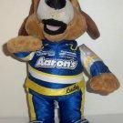 Aaron's Lucky Dog Racing Driver Plush Stuffed Animal Toy Loose Used