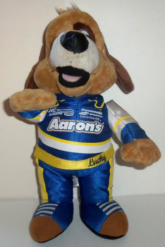 Aaron's Lucky Dog Racing Driver Plush Stuffed Animal Toy Loose Used