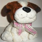 "Fiesta Toys 6"" Sitting Puppy with Ribbon Plush Stuffed Animal Toy Puppies Loose Used"