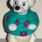 McDonald's 1996 Disney's 101 Dalmatians Dog Teal Purple Sweater Happy Meal Toy Loose
