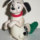 McDonald's 1996 Disney's 101 Dalmatians Dog Green Stocking on Tail Happy Meal Toy Loose