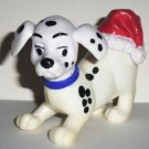 McDonald's 1996 Disney's 101 Dalmatians Dog All Fours Santa Hat on Rear Happy Meal Toy Loose