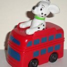 McDonald's 1996 Disney's 101 Dalmatians Dog Riding Red Double Decker Bus Happy Meal Toy Loose