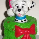 McDonald's 1996 Disney's 101 Dalmatians Dog in Green Wreath with Red Bow Happy Meal Toy Loose