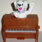 McDonald's 2000 Disney's 102 Dalmatians Dog on Brown Piano Happy Meal Toy Loose