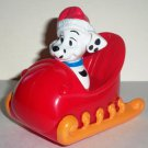 McDonald's 2000 Disney's 102 Dalmatians Dog with Red Sleigh Happy Meal Toy Loose