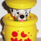 McDonald's 1996 Disney's 101 Dalmatians Dog in Yellow Pot Happy Meal Toy Loose