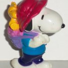 Peanuts Snoopy with Valentine Basket PVC Figure Whitman's Loose Used
