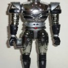 Beetleborgs Metallix Titanium Silver Beetleborg Action Figure Bandai 1997 Loose Used