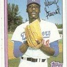 1982 Topps Baseball Card #213 Dave Stewart RC EX