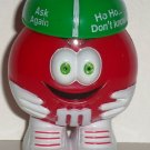 M&M's Christmas Red with Spinner Hat Plastic Figure Loose Used
