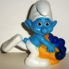 McDonald's 2011 Smurfs Greedy Smurf PVC Figure Happy Meal Toy  Loose Used