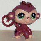 Littlest Pet Shop #1361 Rusty Red Purse Monkey Figure Hasbro Loose Used