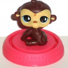 McDonald's 2009 Littlest Pet Shop Brown Monkey Figure Only Happy Meal Toy Hasbro Loose Used