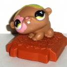 McDonald's 2008 Littlest Pet Shop Brown Hamster Happy Meal Toy Hasbro Loose Used
