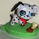 McDonald's 2008 Littlest Pet Shop Black and White Dalmatian Happy Meal Toy Hasbro Loose Used