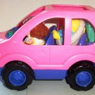 Fisher-Price #77607 Little People Melody the Mini Van w/ Figures Loose Used