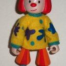 Disney's Jojo's Circus Jojo the Clown Action Figure Magnetic Feet Pop Rocket Loose Used