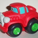 Playskool Tonka 2006 Wheel Pals Red Car with Black/Green Wheels Loose Used
