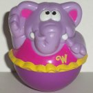 Playskool 2003 Weebles Purple Elephant in Pink Tutu Figure Hasbro Loose Used