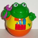 Playskool 2003 Weebles Frog Mechanic Figure Yellow Orange Hasbro Loose Used