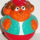 Playskool 2004 Weebles Dog in Turquoise Jacket and Red Hat Figure Hasbro Loose Used