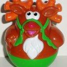 Playskool 2005 Weebles Rudolph the Red Nosed Reindeer Figure Hasbro Loose Used