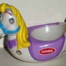 Playskool Weebles White Horse with Purple Saddle Figure Hasbro Loose Used