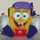 SpongeBob Squarepants Small Vinyl Water Squirter Bath Toy 2006 Loose Used