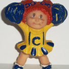 Cabbage Patch Kids 1984 Red Haired Girl Cheerleader in Yellow Outfit PVC Figurine Loose Used