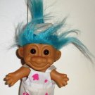 "Russ 5"" Painter Troll with Light Blue Hair Doll Loose Used"
