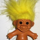 "Russ 5"" Troll with Yellow Hair Doll No Clothes Loose Used"