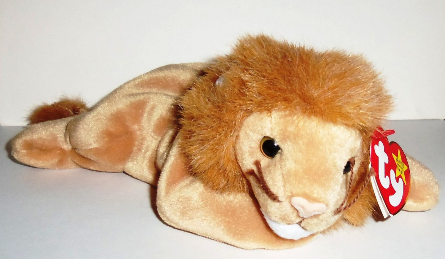 e1261af1cb3 TY Beanie Babies Roary the Lion w  Swing Tag 1996 Loose Used