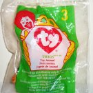 McDonald's 1998 Ty Teenie Beanie Babies #3 Twigs the Giraffe Happy Meal Toy in Original Packaging